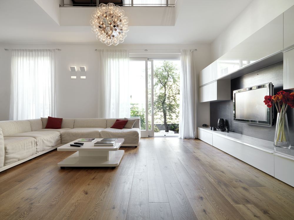houten vloer woonkamer - Klitsie Parketvloeren